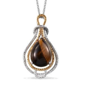 Jewelry - South African Tigers Eye (Pear) Pendant 3 For $30